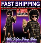 BOYS MICHAEL JACKSON DELUXE BLACK MILITARY JACKET SMALL AGE 3-4